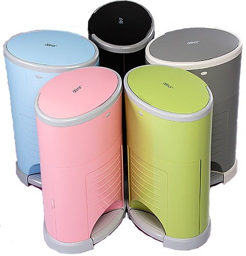 Dekor Plus diaper pail in variety of colors